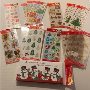 HALLMARK LOT OF STICKERS & CARDS CHRISTMAS NEW